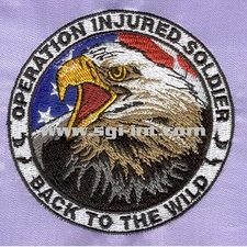 Operation Injured Soldier Embroidery Digitizing