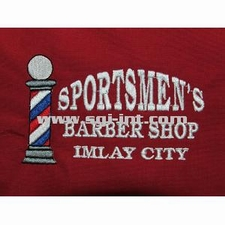 Sportsmen's Barber Shop Imlay City Embroidery Digitizing