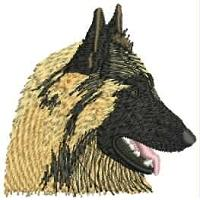 Dog Embroidery Design # DD12