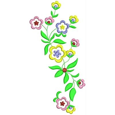 Floral Embroidery Design # FL1