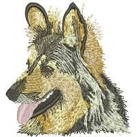 Dog Embroidery Design # DD23